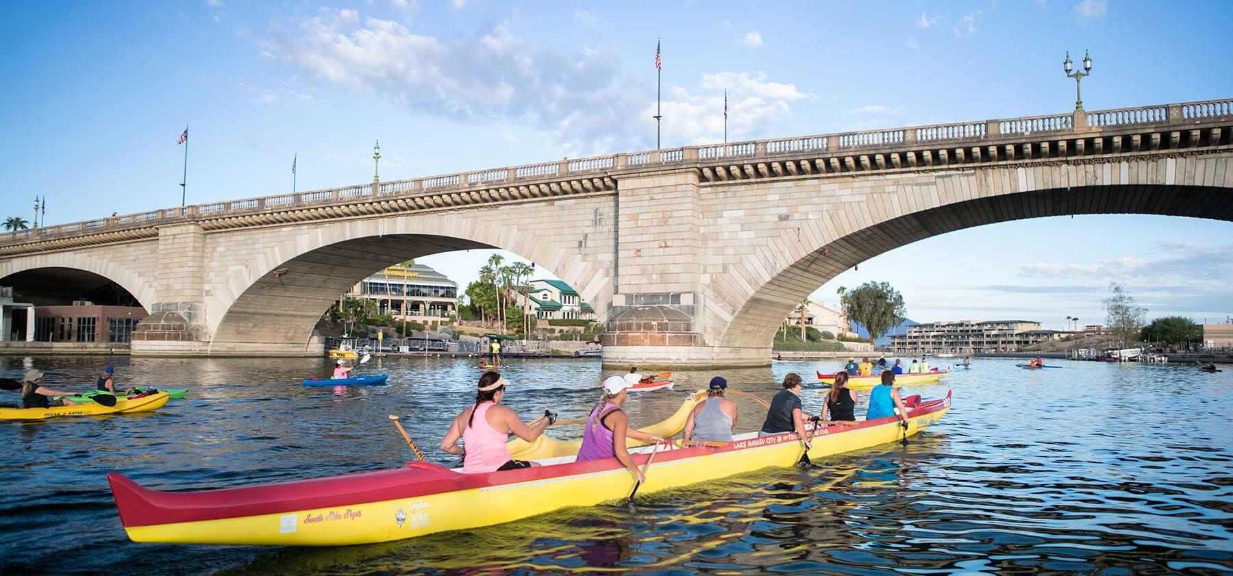 Rowing under the london bridge lake havasu city az