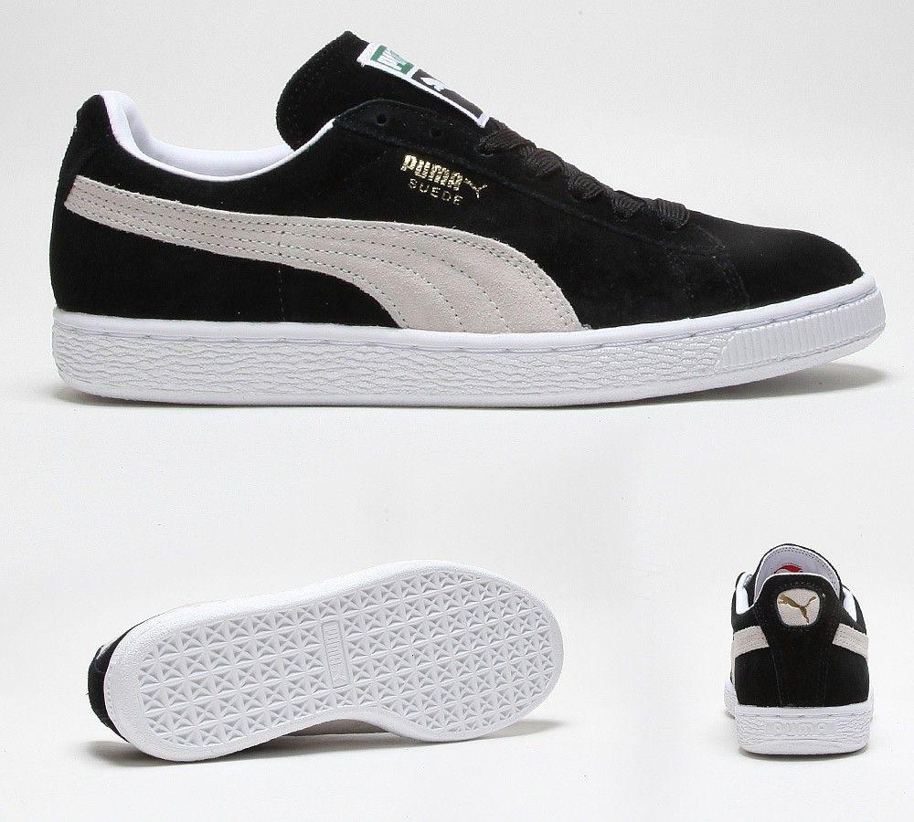 Puma Womens Suede Classic Eco Trainer | Black / White | Footasylum