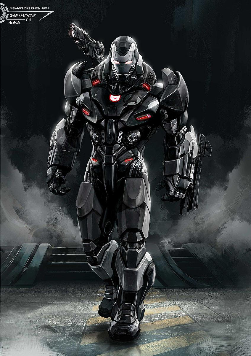 ArtStation Avengers Endgame / War Machine with Time