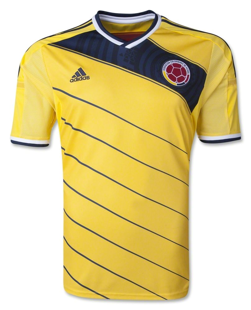 f675dbe1c Colombia 2014 Home Soccer Jersey | World Cup 2014 | Colombia soccer ...