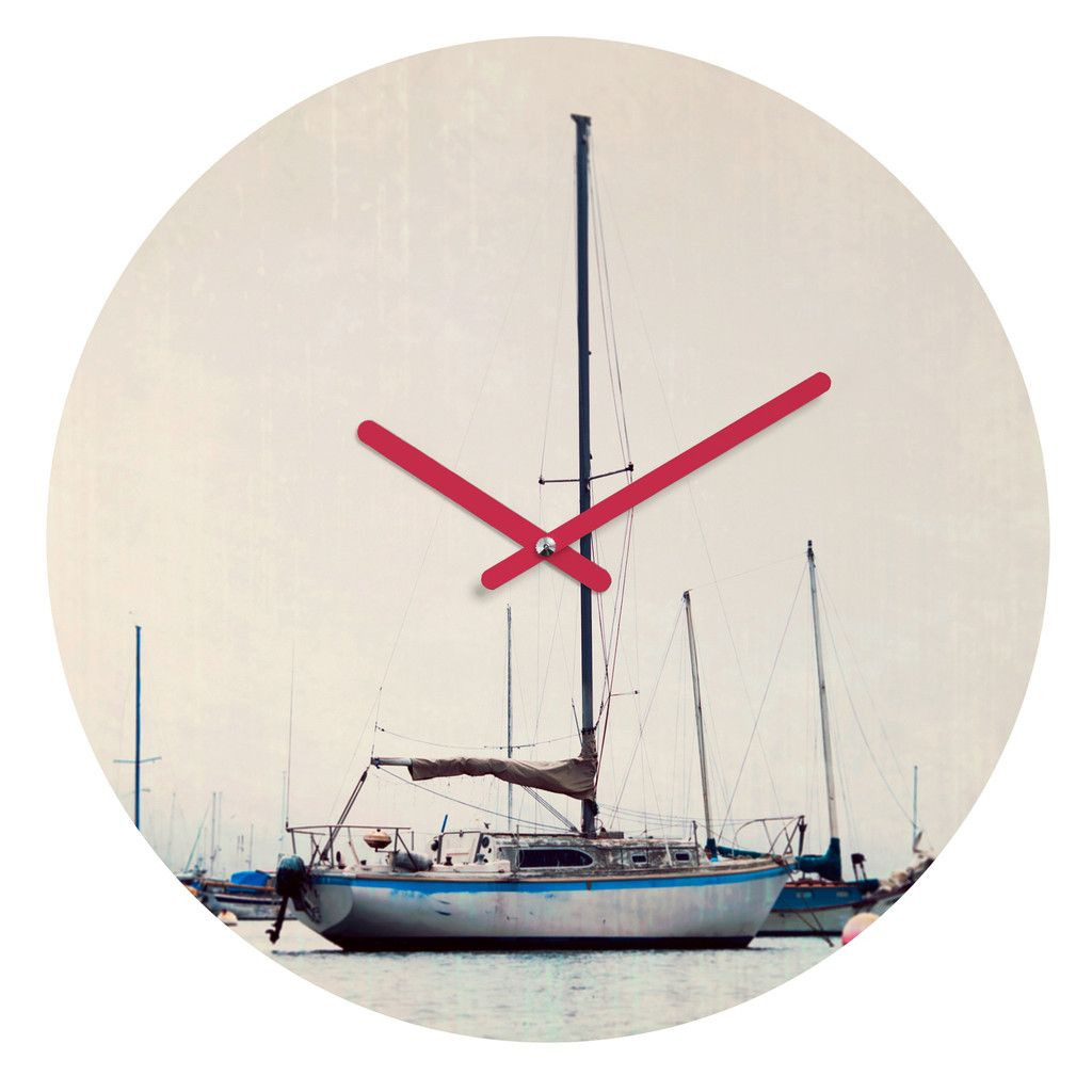 Bree Madden Ships At Sea Round Clock | DENY Designs Home Accessories