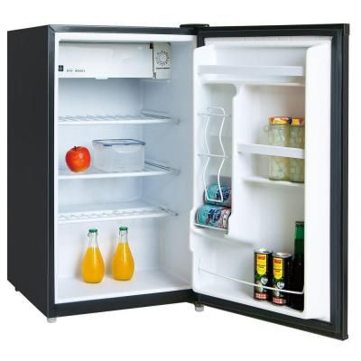 Igloo 4 6 Cu Ft Mini Refrigerator In Black Fr464 Black The Home Depot Dorm Fridge Compact Refrigerator The Home Depot