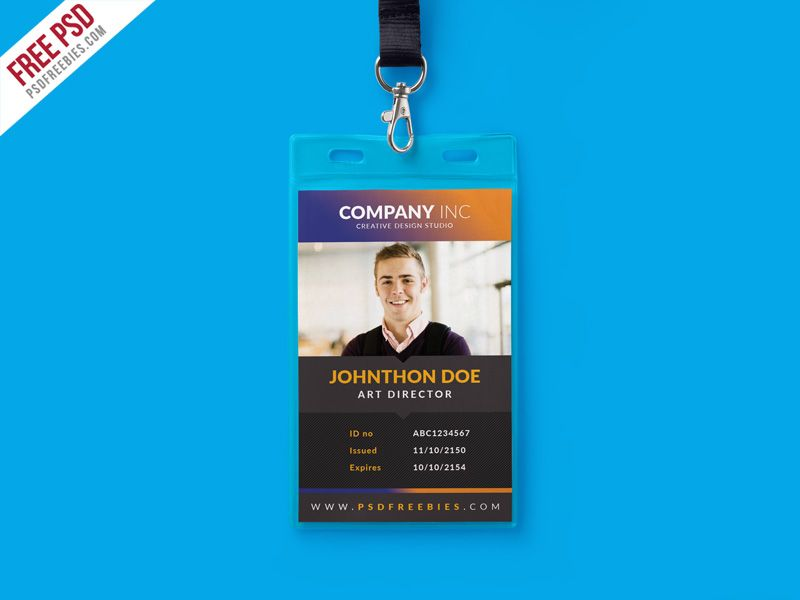 Free Creative Identity Card Design Template Psd Identity Card