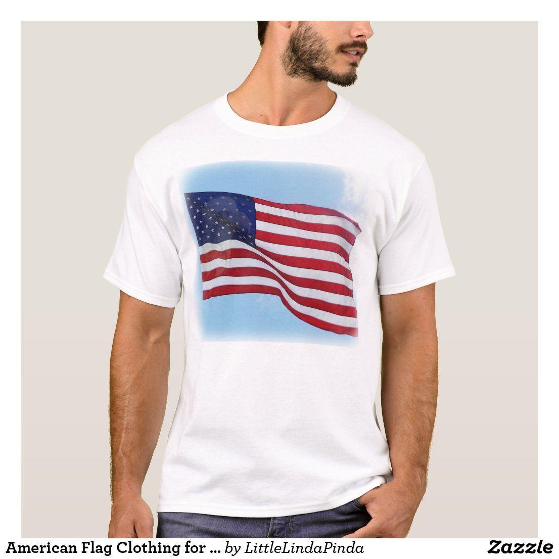 American flag clothing for men tshirt in