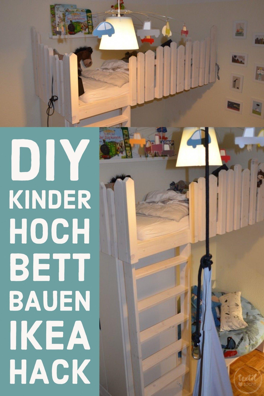 tutorial: hochbett selber bauen | diy für kinder | pinterest