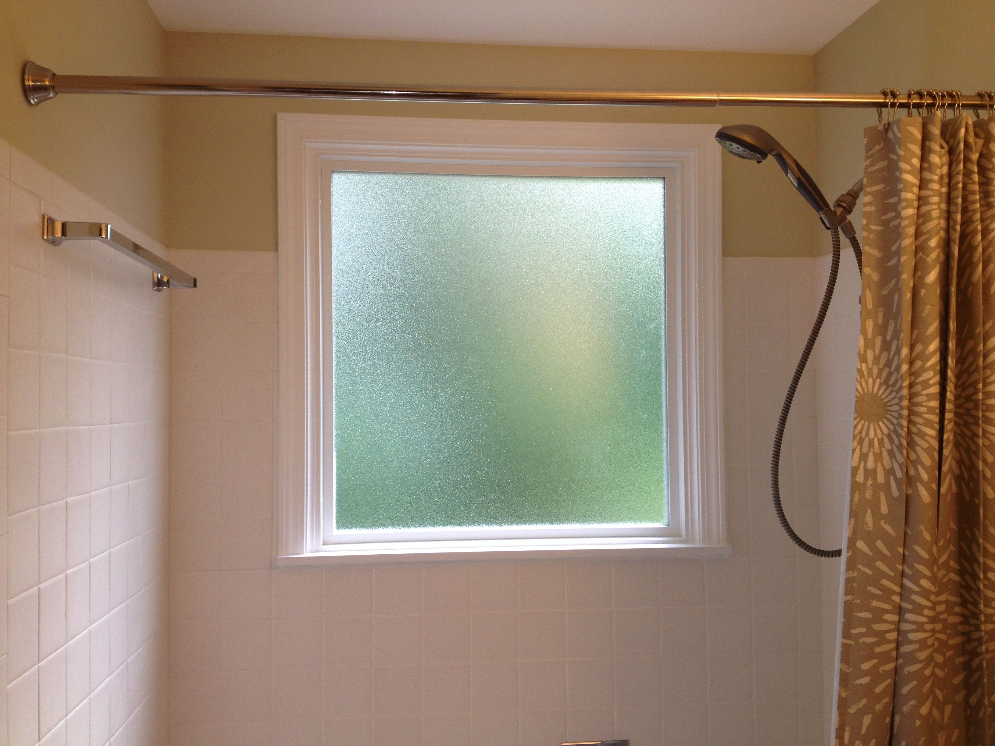 What To Do If You Have A Window In Your Shower..... Install A Vinyl Window  With Privacy Glass And Wrap It With Vinyl Trim. Caulk The Seams To Make It  ...