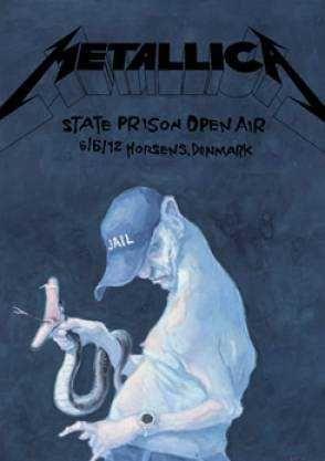 Poster By Michael Kvium For A Metallica Concert Metallica Billeder Tegneseriekunst