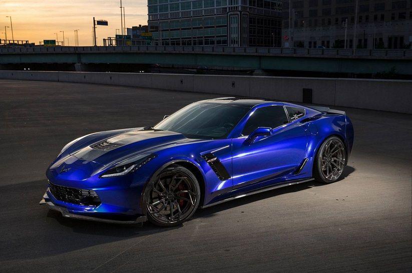 Custom Blue Chevy Corvette C7