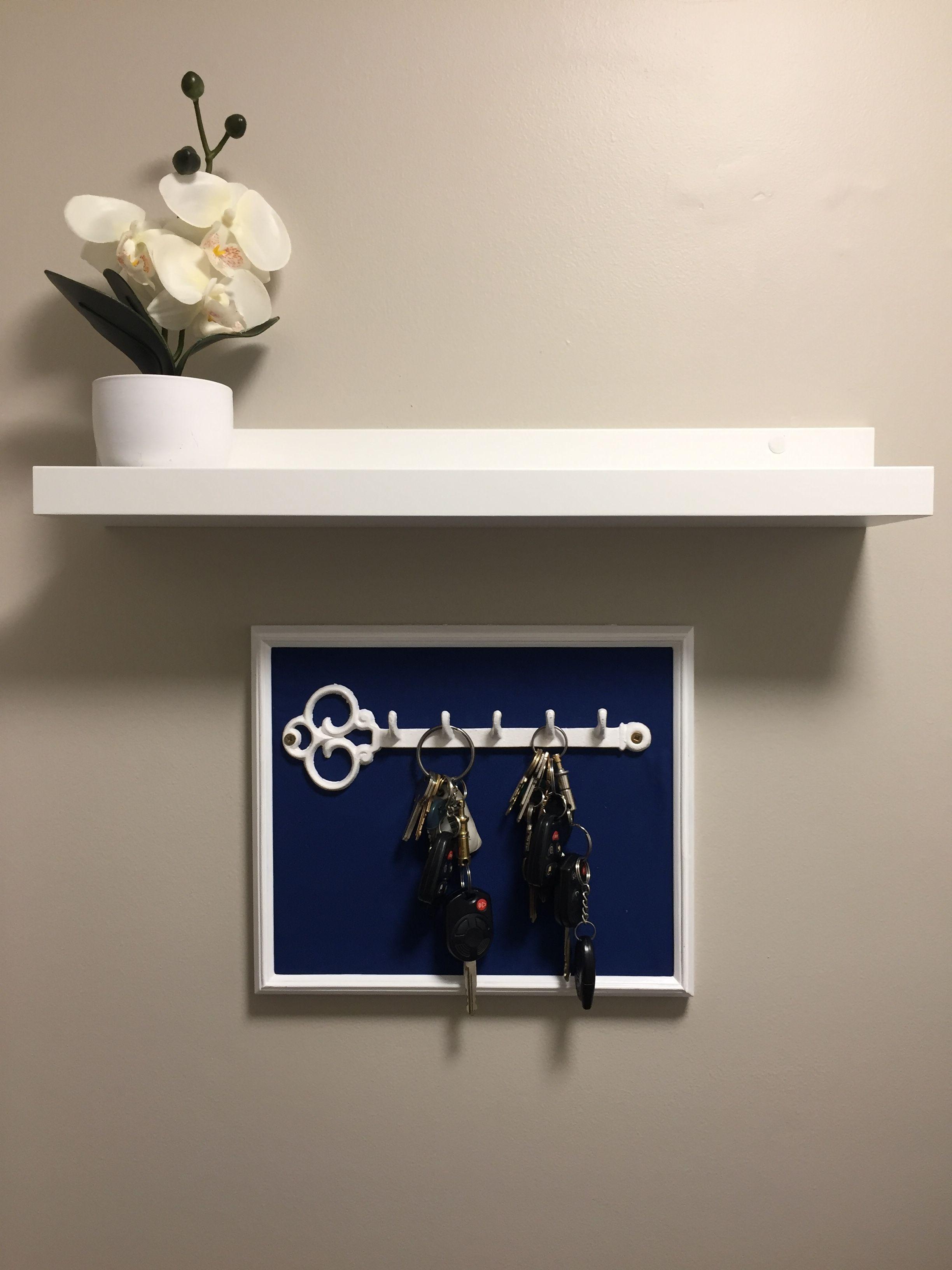 Entryway Key Holder And Shelf