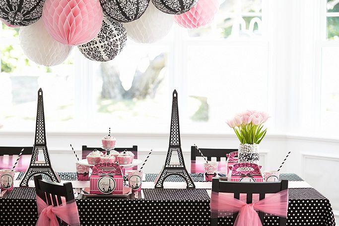 Paris damask celebration fiestas tem ticas rosas y negro - Mesa tower crystal ...