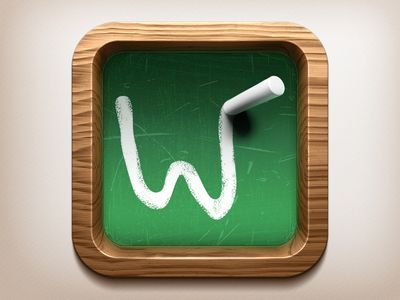 Wooden Blackboard IOS Icon Ios icon, App icon, Hd icons