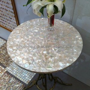 Hot Item Whitelip Shell Mosaic Table Top Sp Wt01 Mosaic Table