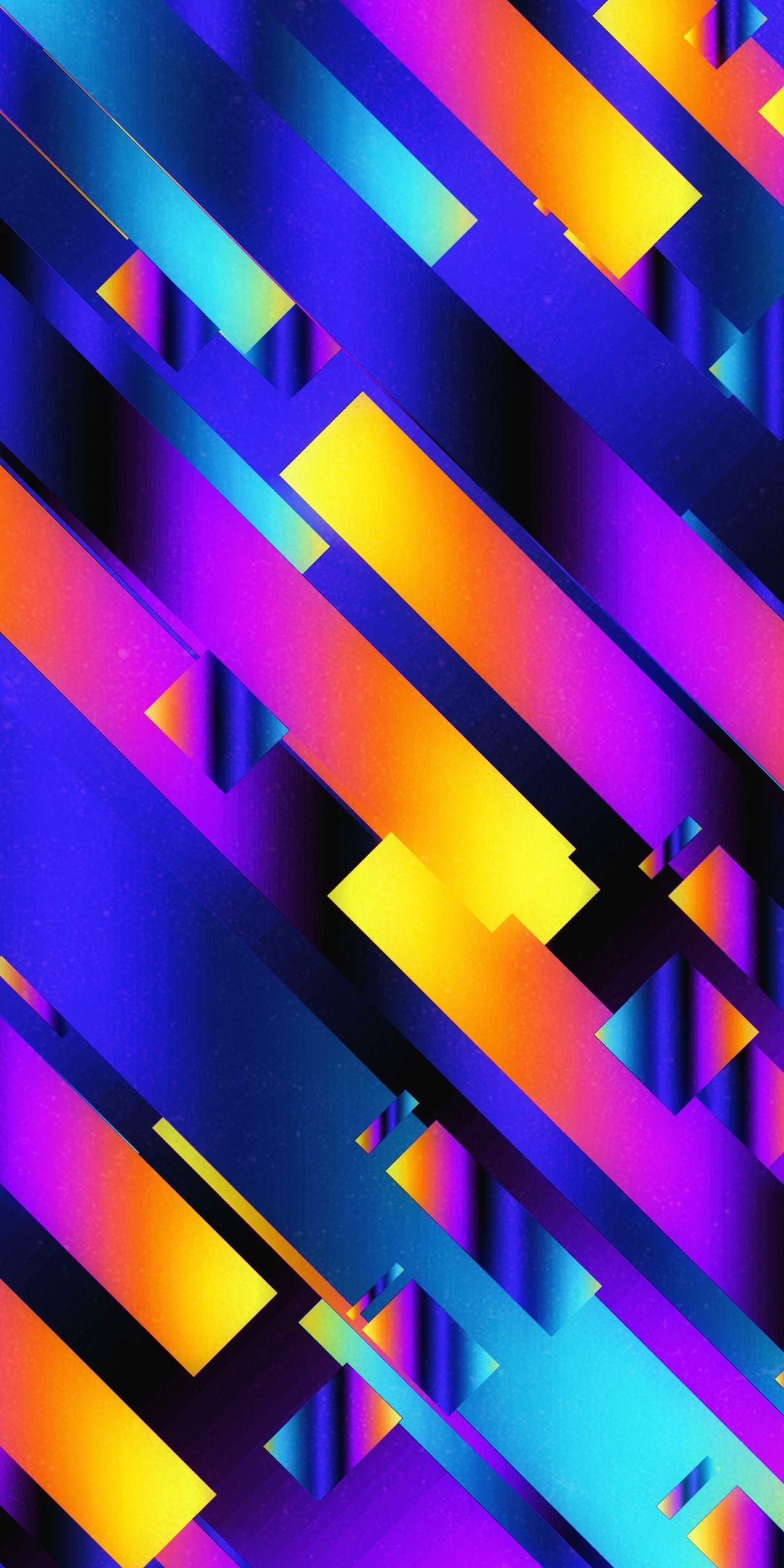 Abstract Neon Pattern Ribbons 1080x2160 Wallpaper Wallpaper