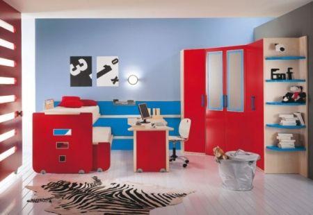Stunning peinture chambre rouge et bleu pictures seiunkel us