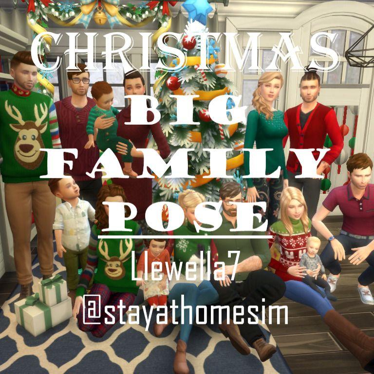 Sims 4 Christmas Poses.Christmas Gift 2 Big Family Pose The Sims 4 Cc Mods