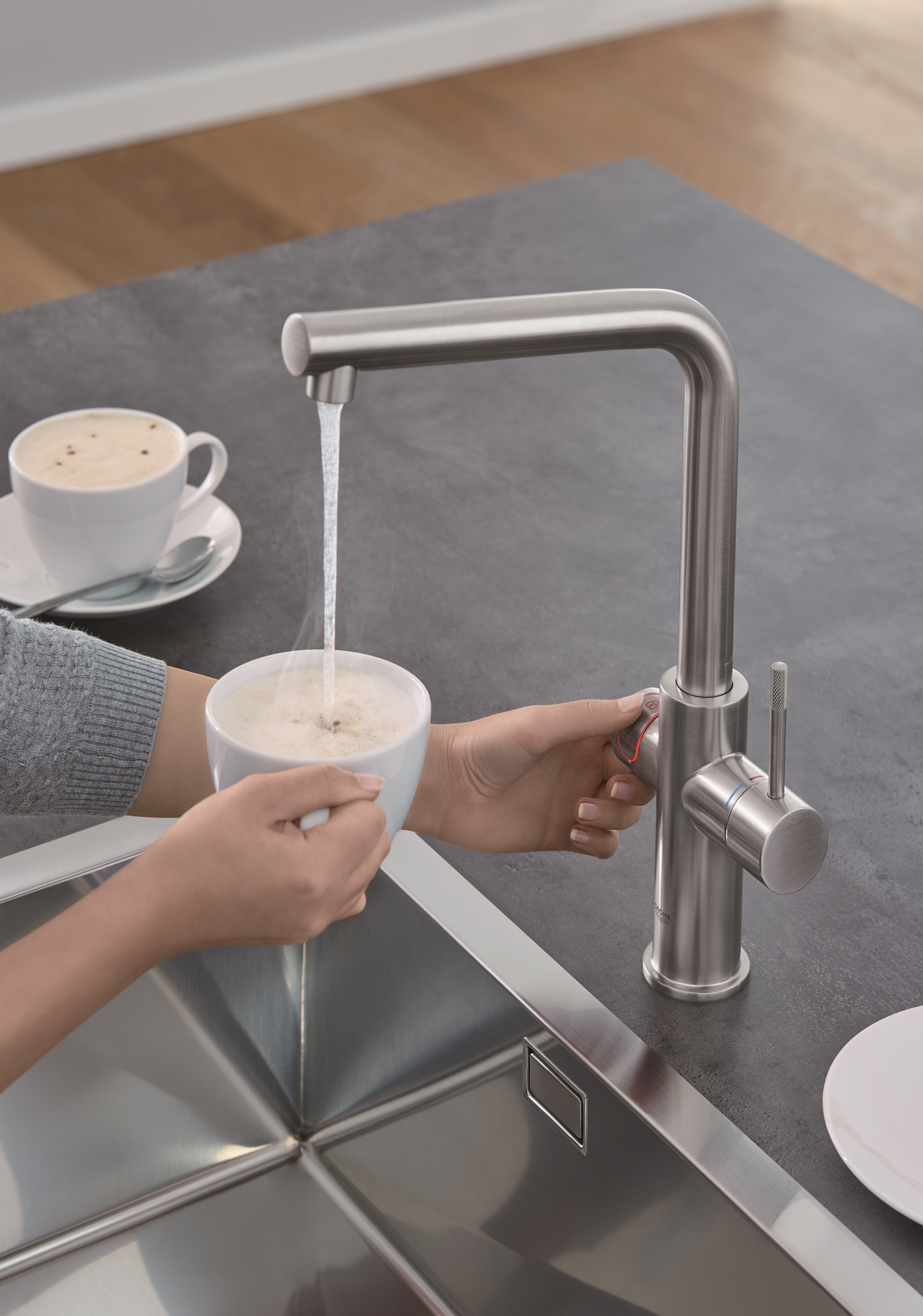 Delicieux Have You Ever Got The Hot Water For Your Coffe Right From The Sink? GROHE  Red Makes It Possible! #GROHERed #GROHE #red #water #boiling #coffe  #waterlove # ...