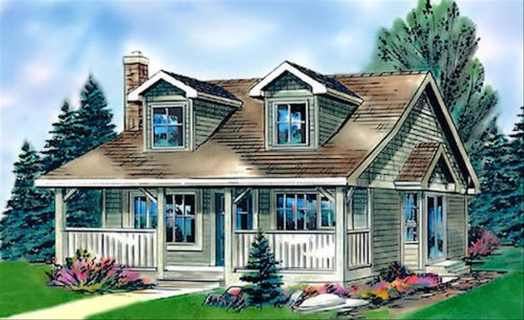 Cottage Style House Plan 2 Beds 1 Baths 736 Sq Ft Plan 18 1043 Country Style House Plans Cottage Style House Plans Cottage House Plans
