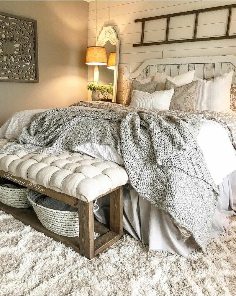 Farmhouse Bedroom Design Photo by Wayfair Canada | Bedroom ...
