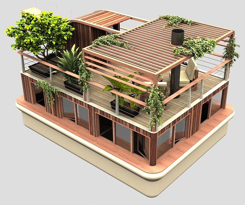 planos de casas flotantes