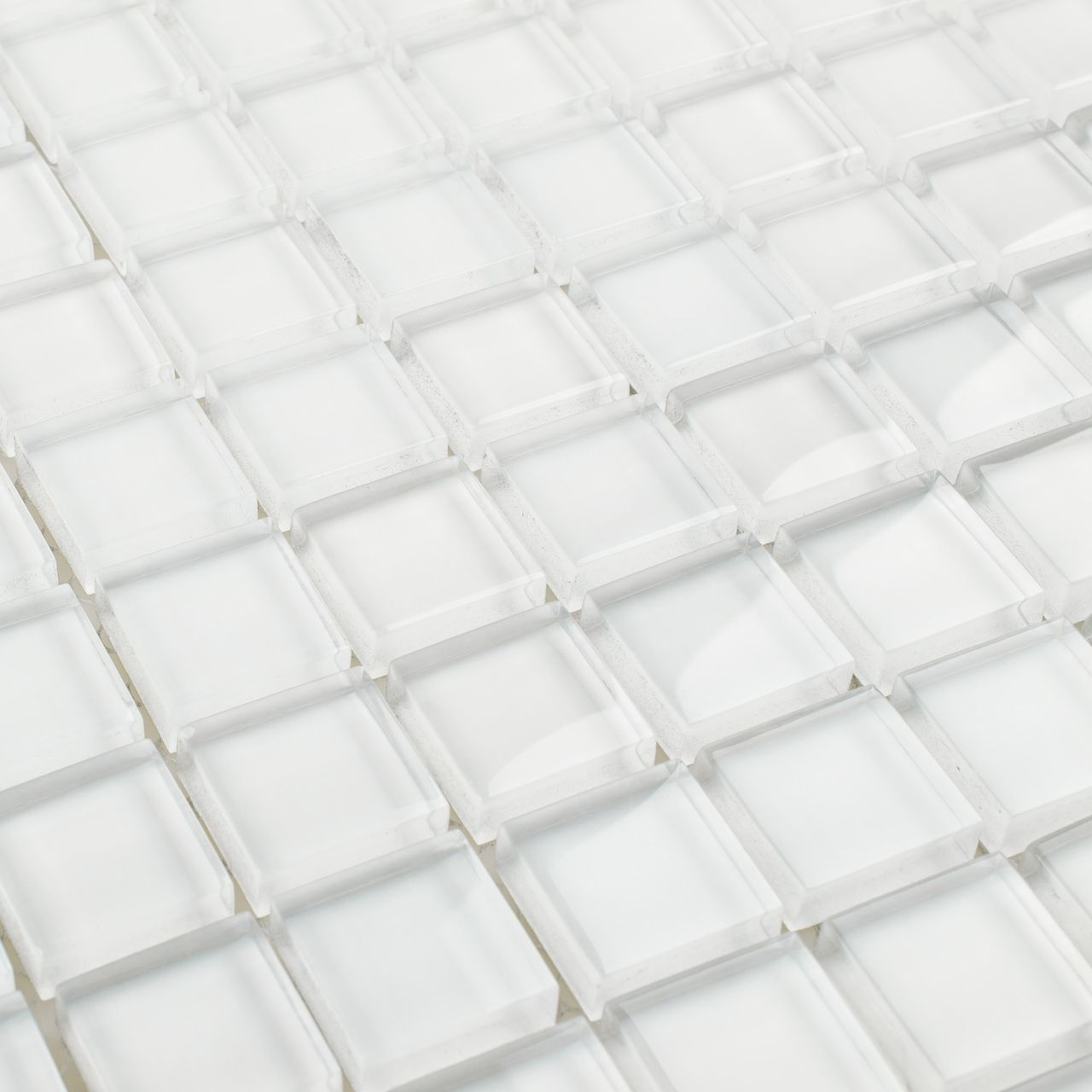 Glass Mosaic Tile Extra White 1x1 Backsplash Wallpaper Farmhouse Backsplash Backsplash