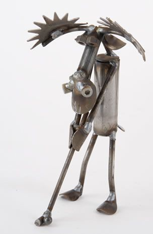 Golfing  Golf Moose Recycled Metal Sculpture Statue Figurine Available At  AllSculptures.com