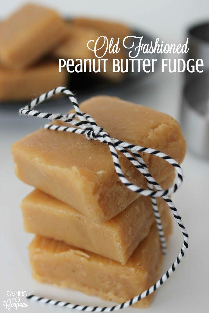 Old Fashioned Peanut Butter Fudge #peanutbutterfudge