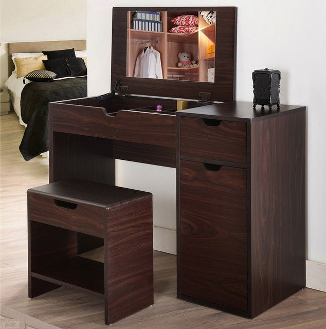 36 Inch Bedroom And Makeup Vanity Table Throughout Bedroom