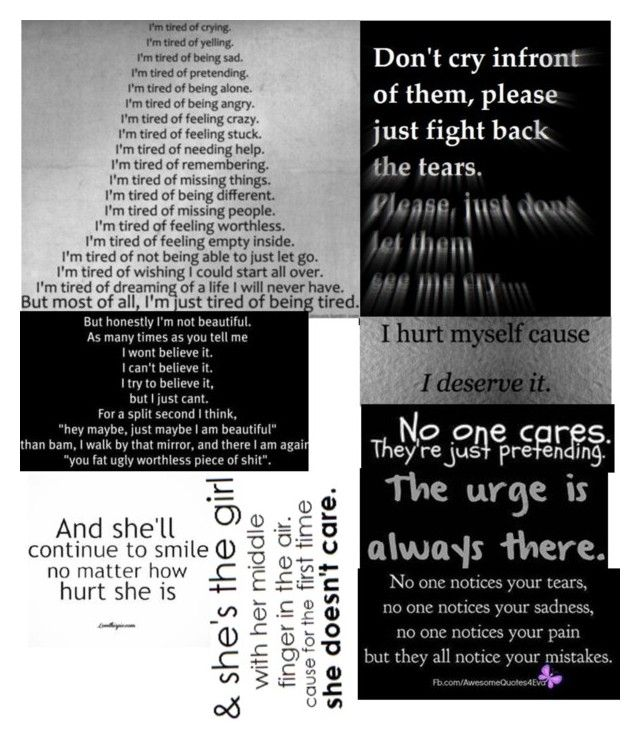 """""""I don't want to do this anymore..."""" by bullying-stops-here259 ❤ liked on Polyvore"""