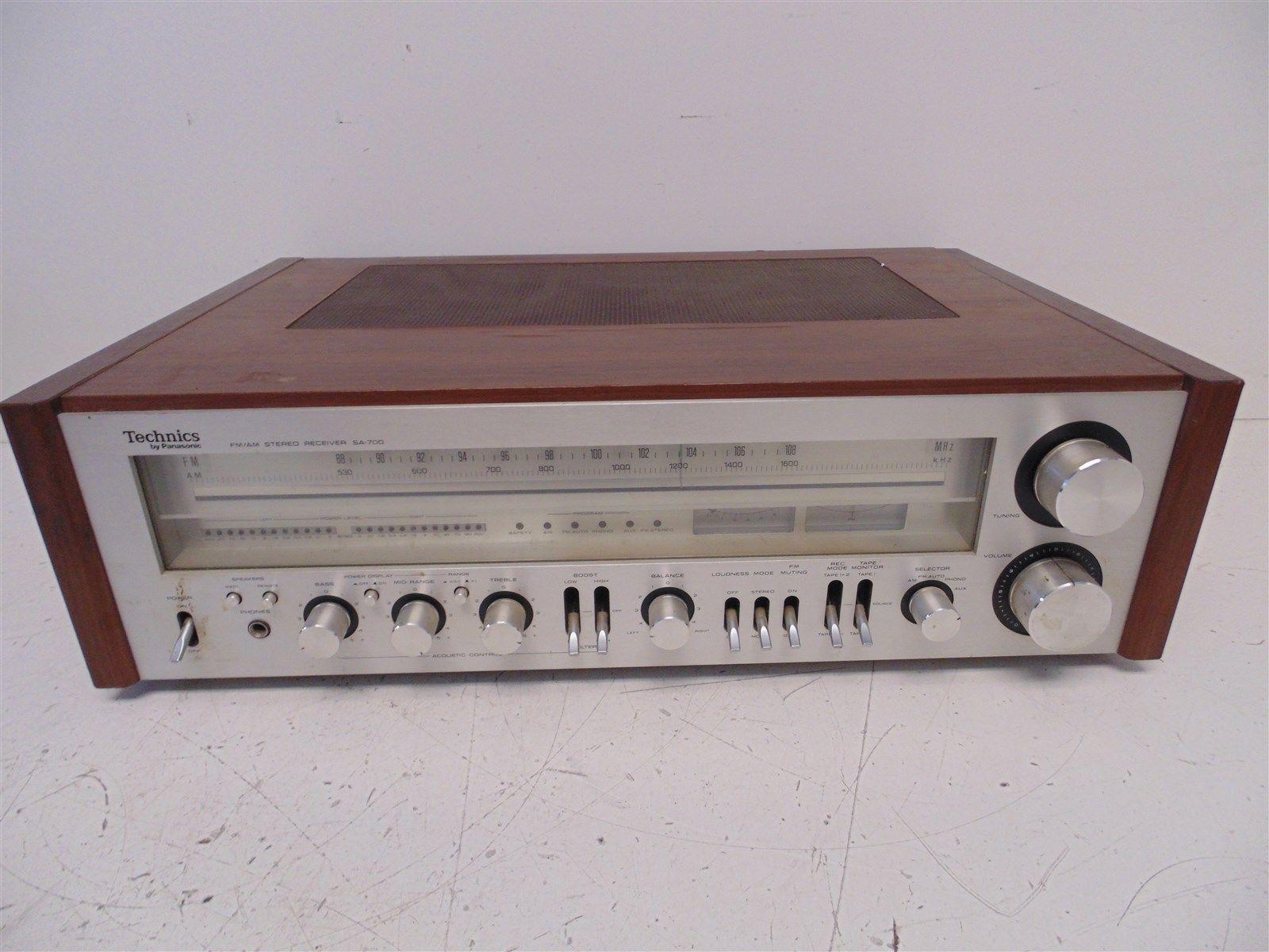 A) Vintage Technics By Panasonic SA-700 FM/AM Stereo