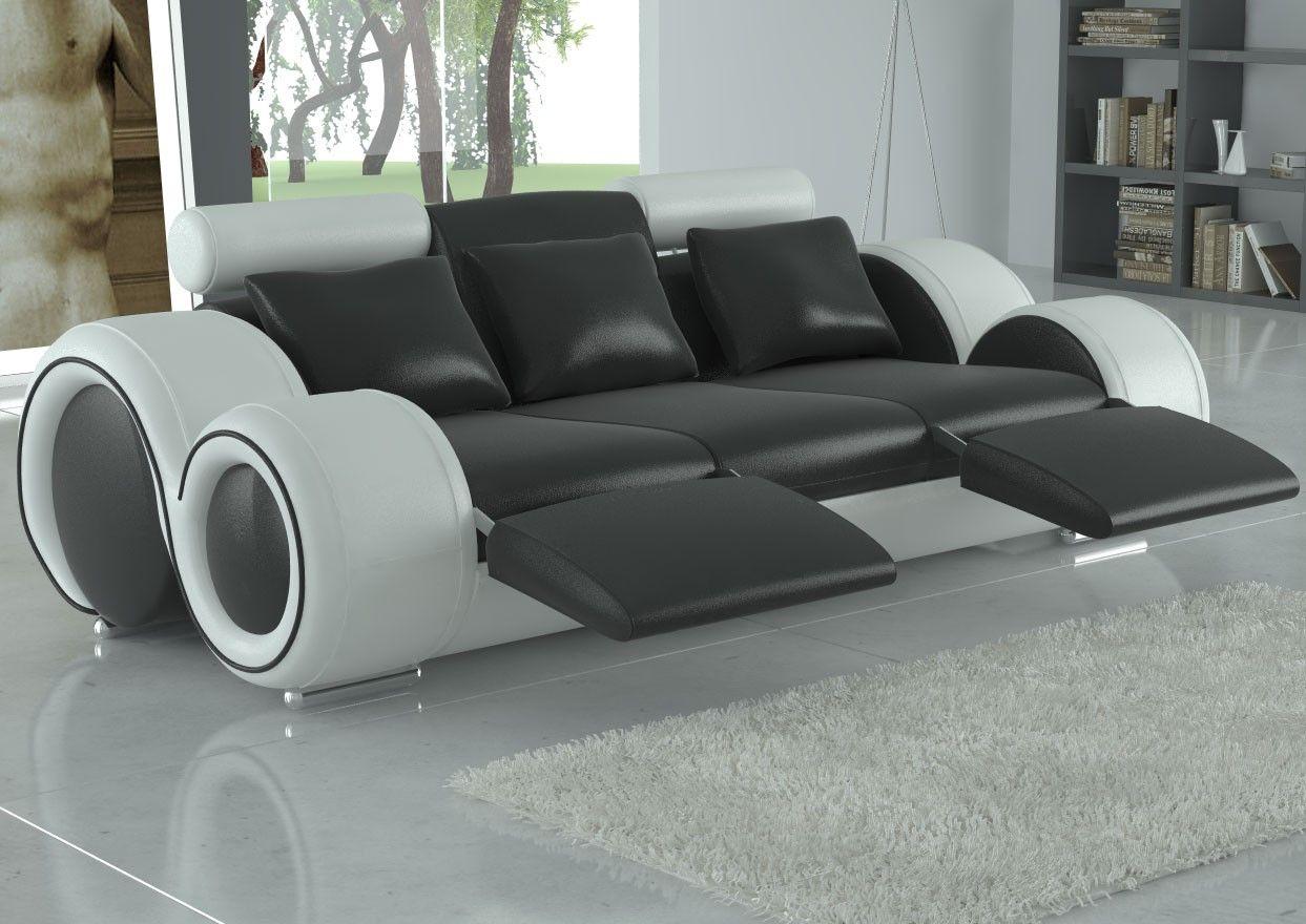 Franco Full Leather Sofa Black White Sofas In 2019