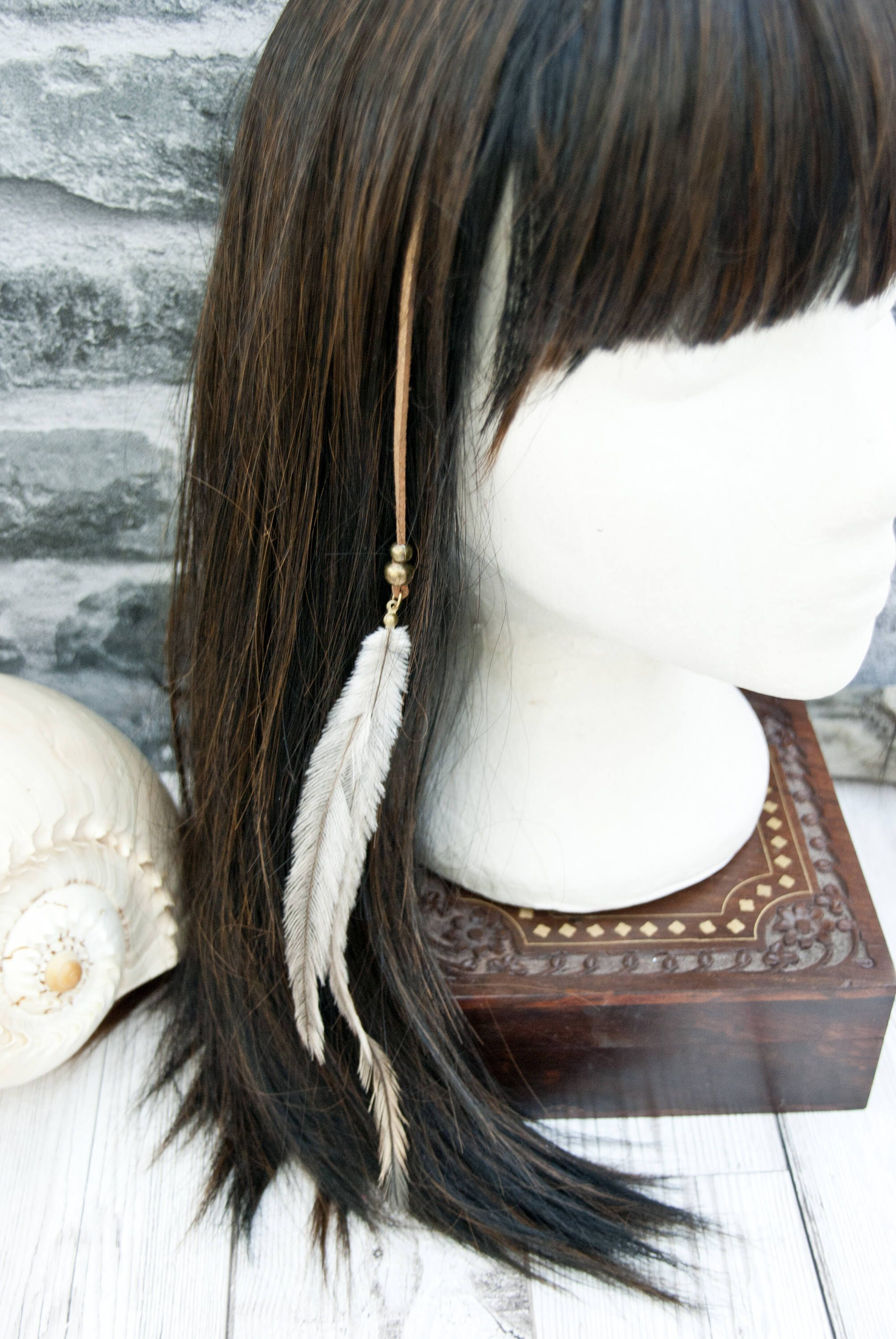 Boho Hair Jewellery Clip In Feather Hair Extensions Hippie Chic