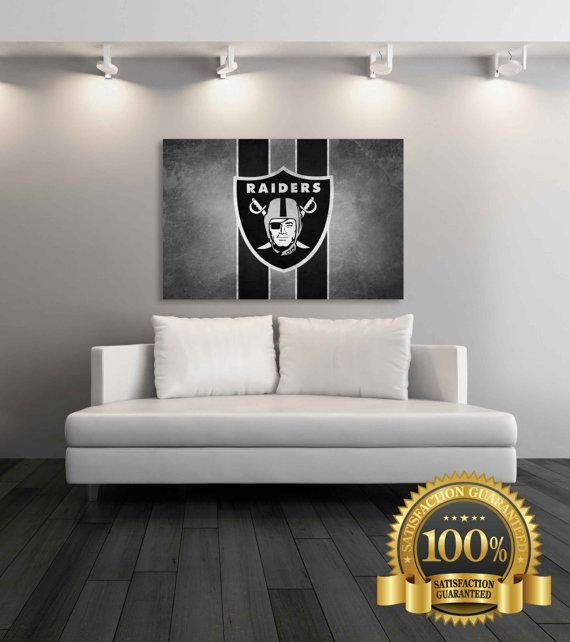 Oakland Raiders Canvas Oakland Raiders by SportsDecorPrints | Stuff ...