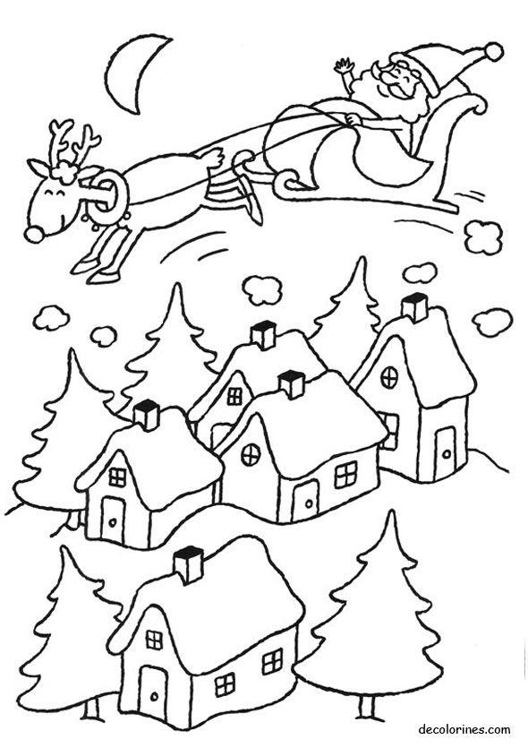 dibujos_para-colorear_de_la_navidad_011.jpg (590×835) | Boże ...