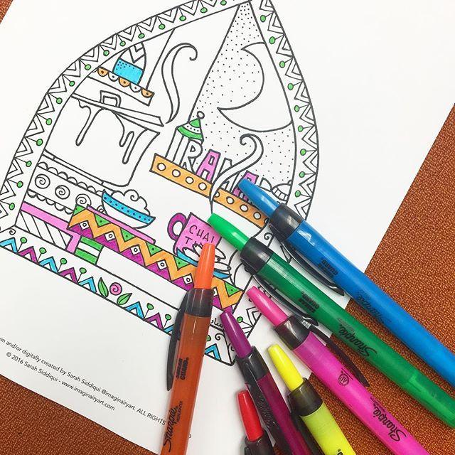Instagram Photo By Imaginairyart Art Design Jun 15 2016 At 2 15pm Utc Printable Coloring Pages Coloring Pages Ramadan Activities