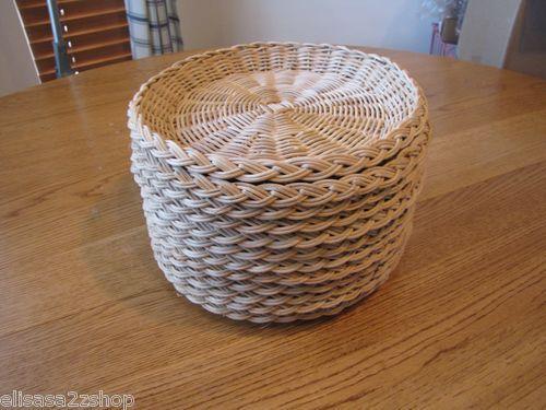 Country woven rattan wicker RARE 12 pack paper plate holders weave picnic thick & La La Land (Original Motion Picture Soundtrack | Plate holder and La ...