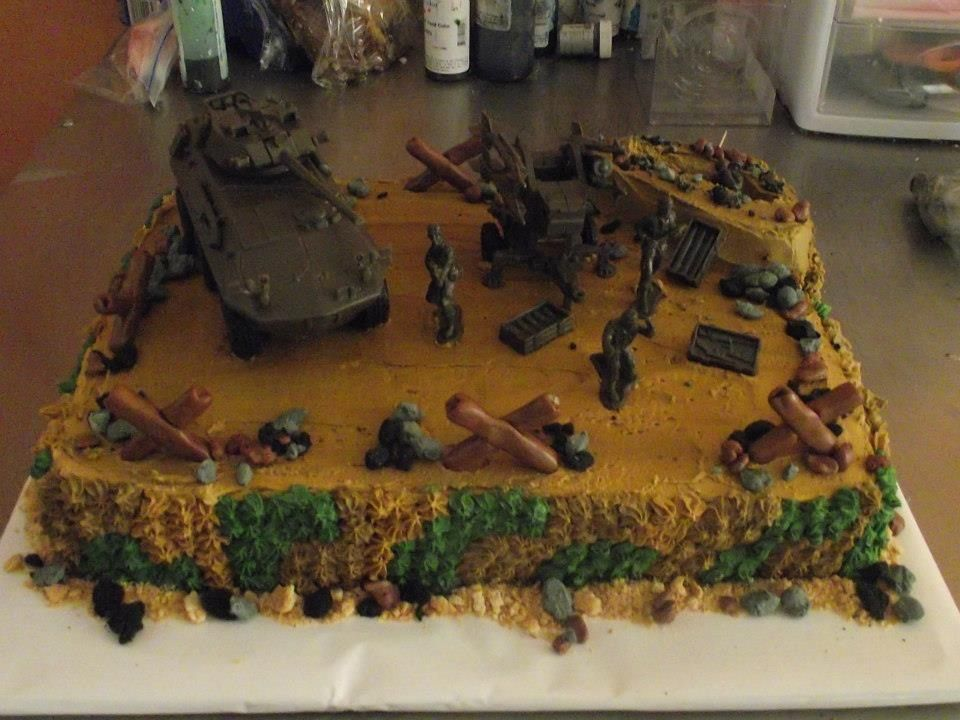 Army Themed Cake  My Cakes  Pinterest