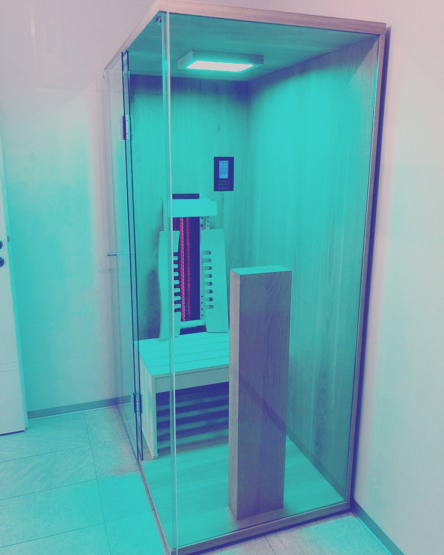 Kleine Infrarotkabine Aus Eiche Mit Viel Glas In 2020 Infrarotkabine Kabine Infrarot Sauna