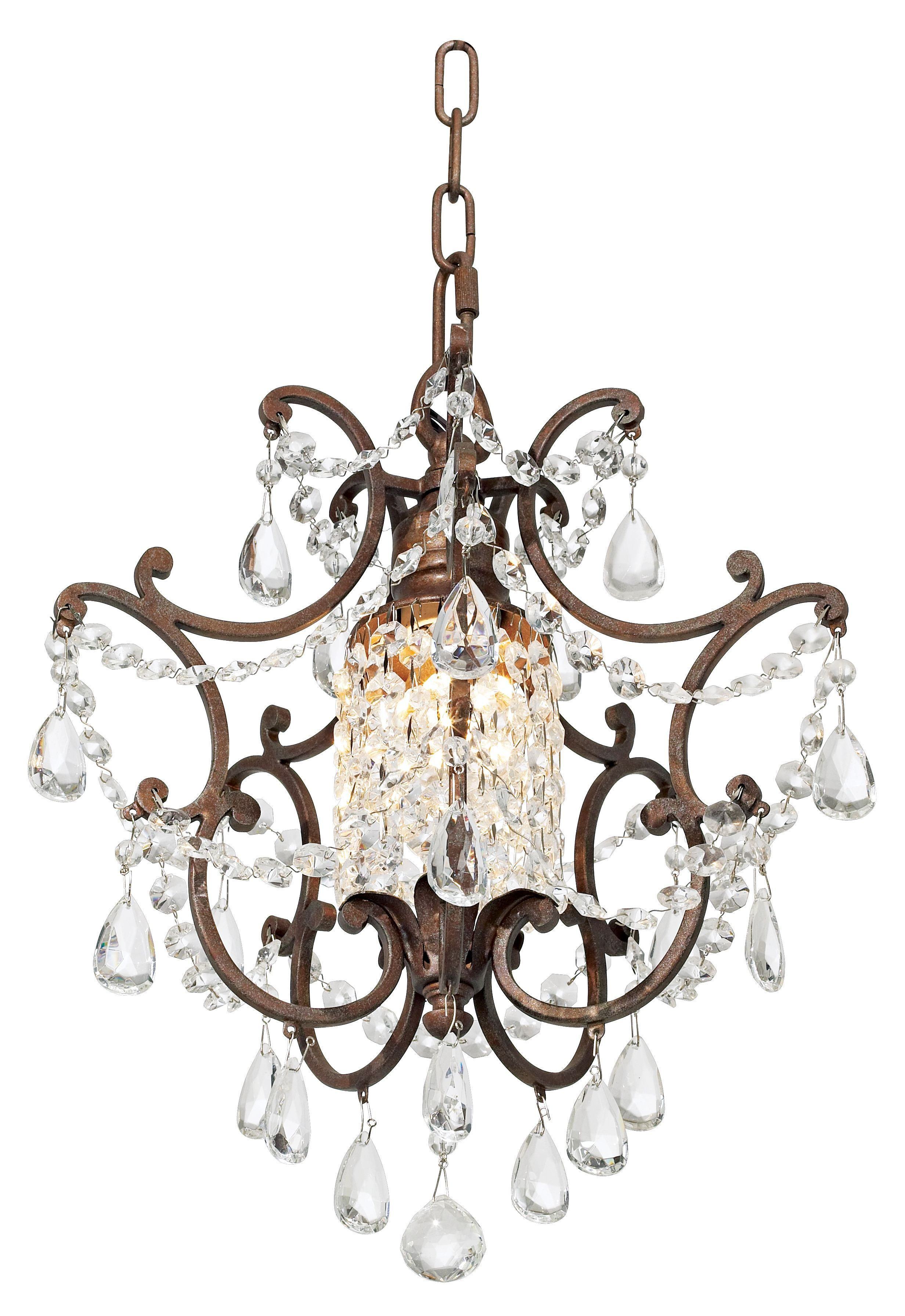 "Maison De Ville Collection 1 Light 11"" British Bronze Mini Crystal"