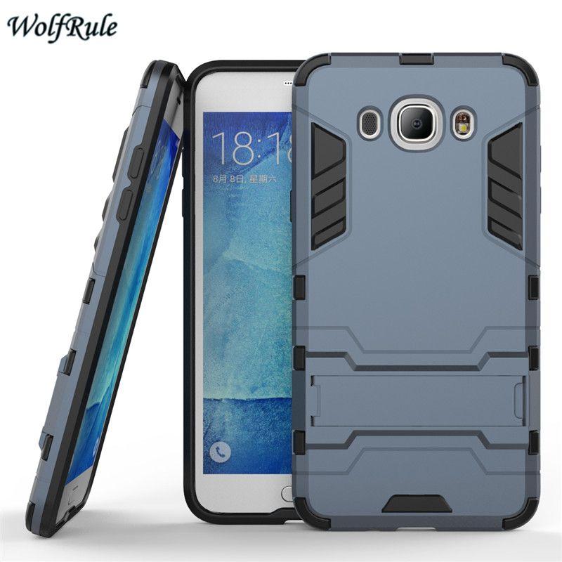 대한 samsung j7 2016 case 실리콘 및 플라스틱 안티 노크 coque 스탠드 전화 커버 case 대한 samsung galaxy j7 2016 j710 case <[