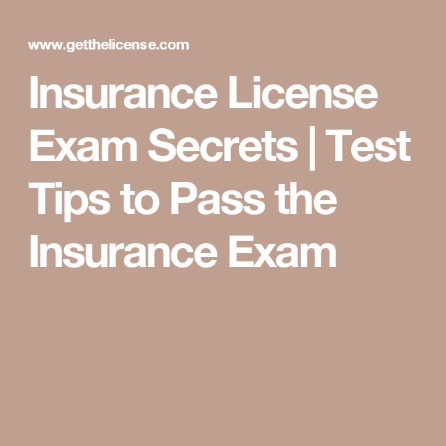 Insurance License Exam Secrets Test Tips To Pass The Insurance