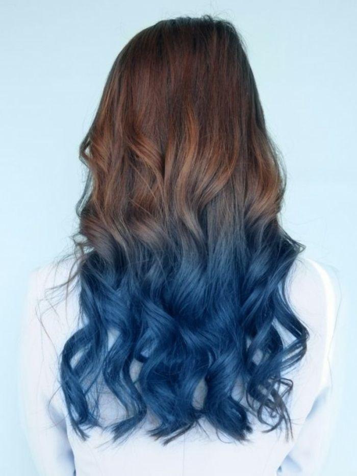 Blaue Haare Coole Frisuren Für Mutige Damen Blaues Ombre