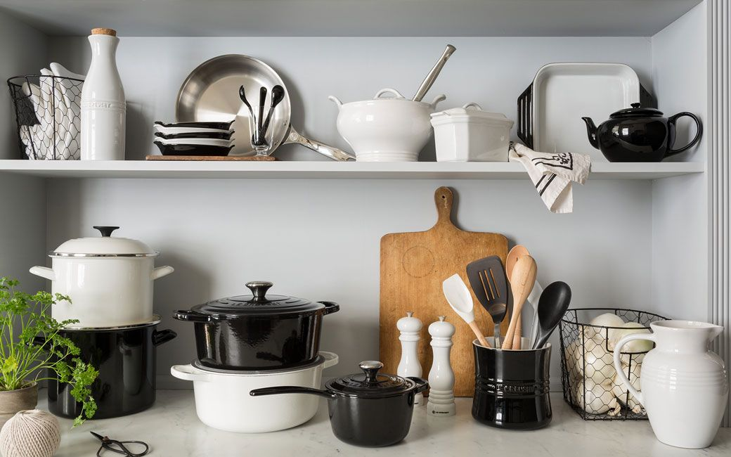 Le Creuset Black And White Cookware Kitchen Products House Leisure