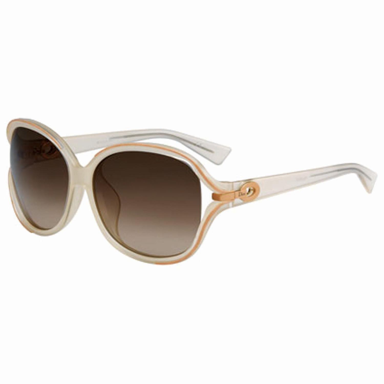 e23f0b3e3f Christian Dior Sunglasses-Metal Frame-Milk Peach Frame Color-Brown Shaded  Lens Color Ladies