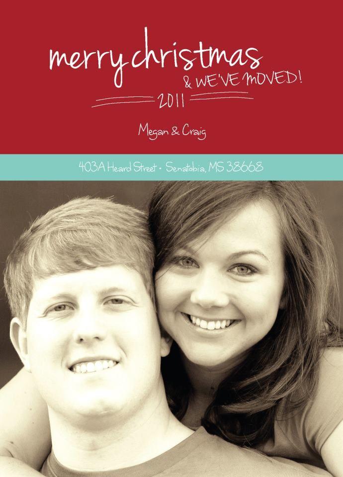 Christmas / We\'ve Moved Card   Invitation Ideas   Pinterest