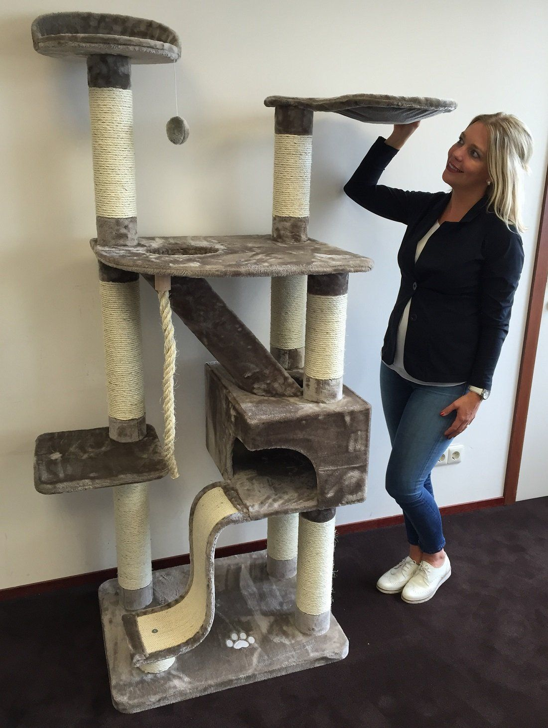 Cat Tree For Large Cats Kilimandjaro Grey Amazon Promo Cat Scratcher Scratching Post Activity Centre For Large Cat Scratcher Cat Scratching Post Big House Cats