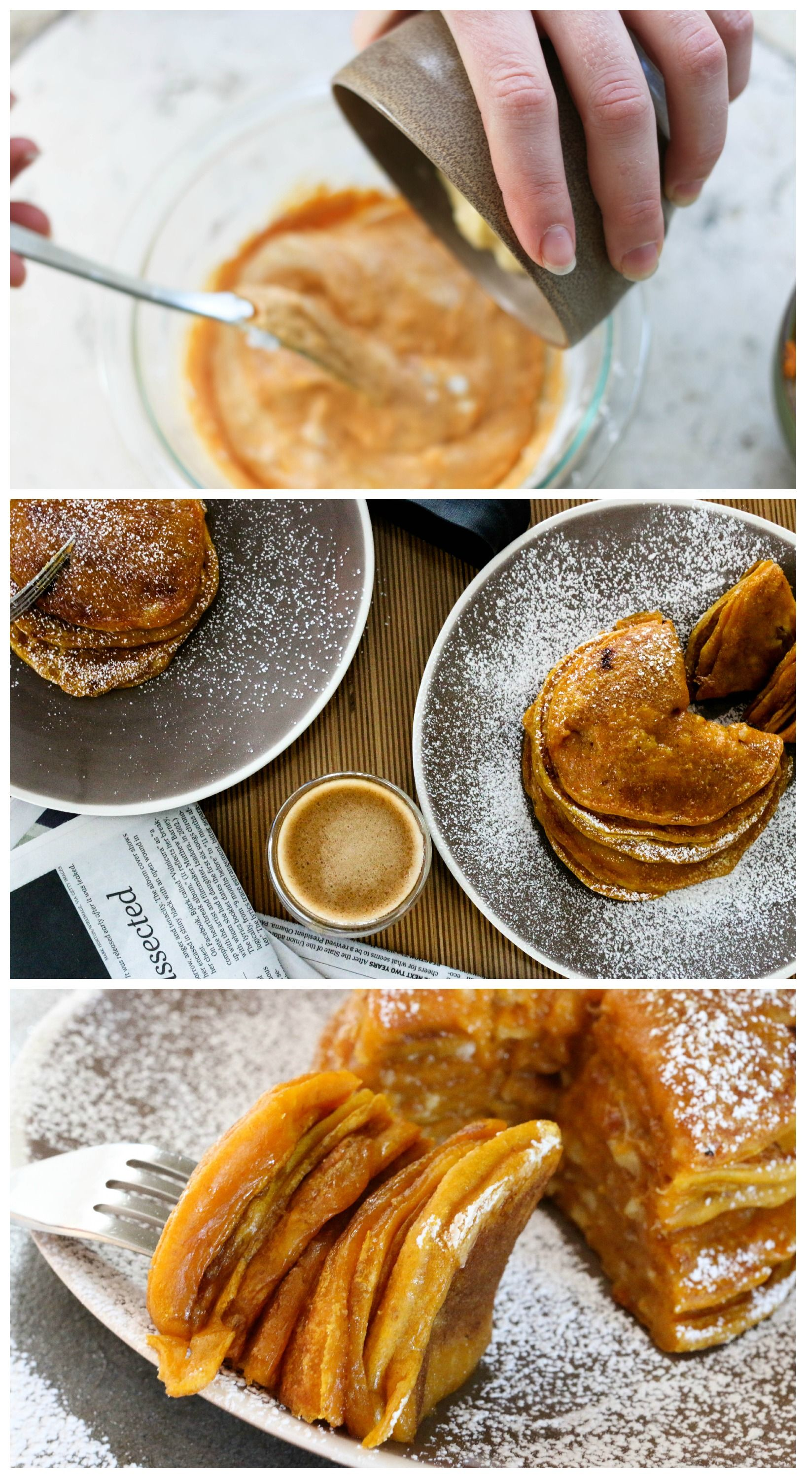 Packed with potassium and betacarotene, these pancakes
