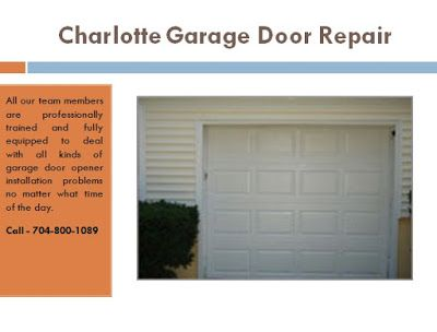 Charlotte Garage Door Repair: Keep Your Home Safe With Professional Garage  Door .