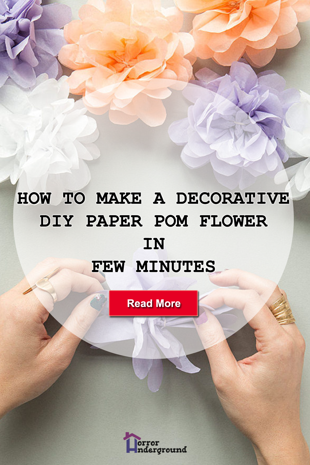 How To Make a Decorative DIY Paper Pom Flower In Few Minutes images