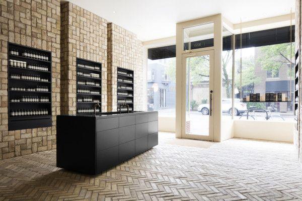 Aesop Bucktown By Norman Kelley Botique Interiors Design Milk Shop Interior Design