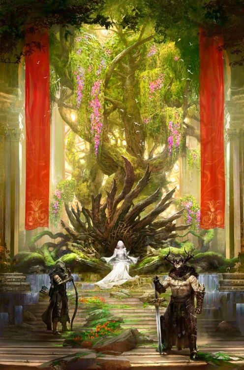 The Green Throne An Art Print By Kekai Kotaki Fantasy Artwork